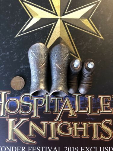 COO Models Hospitaller Knights 2019 Ex METAL Leg Armor /& Feet loose 1//6th scale
