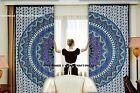 Indian Urban Elephant Mandala Curtains Tapestry Drapes Window Treatment Bohemian