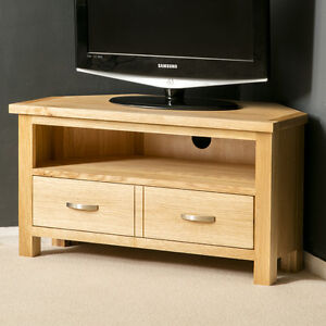 London Oak Corner Tv Stand Plasma Tv Cabinet Solid Wood Tv Unit