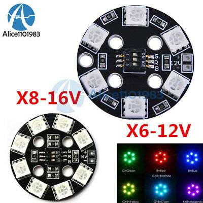 7 Color 5050 X8// 16V RGB LED Round Circle Board for FPV RC Multicopter F17710