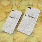 Ed sheeran hard transparent clear Cover Case for Apple iPhone 7 6 6s Plus SE 4 4
