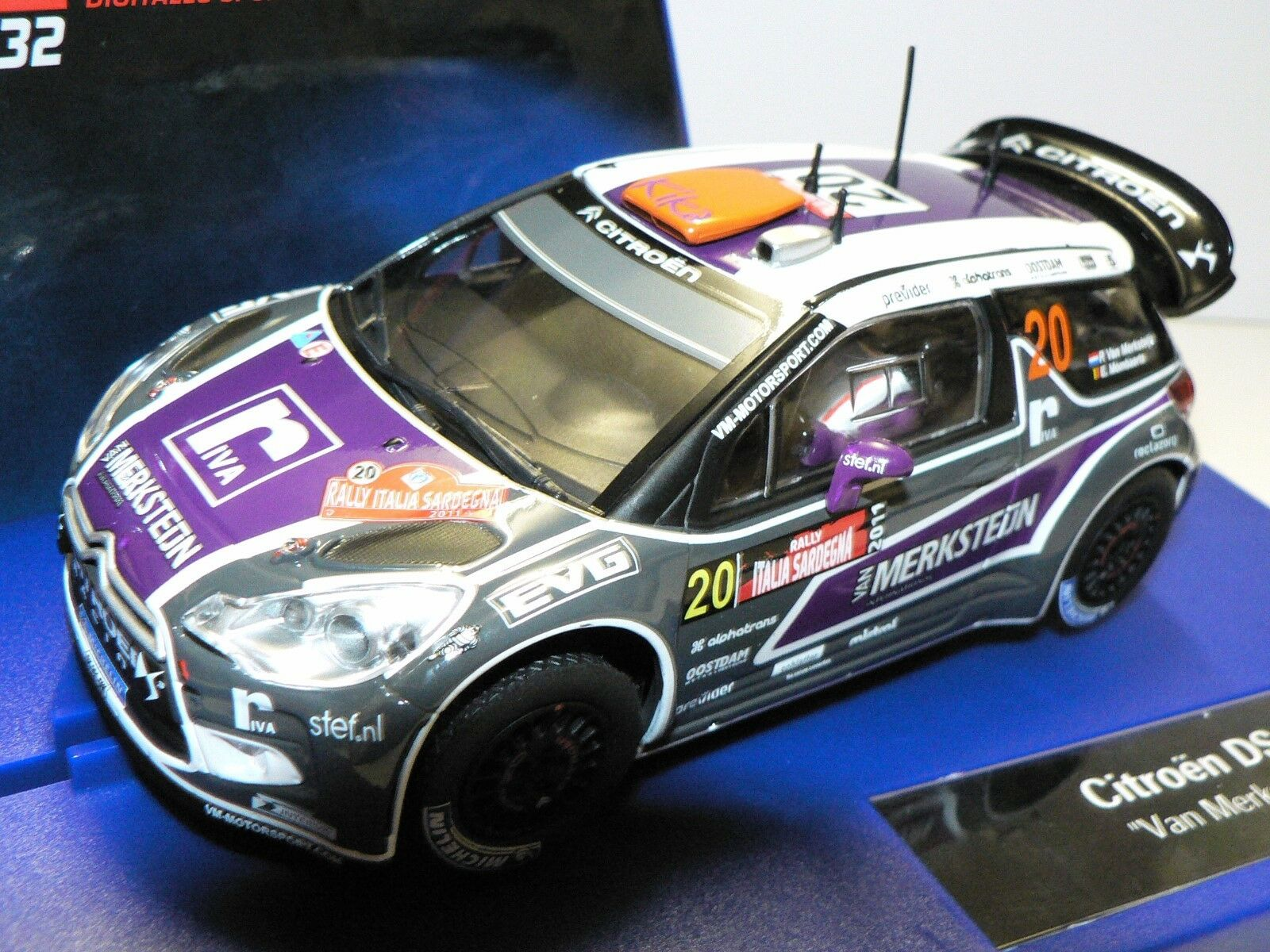 Carrera Digital 132 30617 Citroen DS3 WRC Van Merksteijn No. 20 Neu