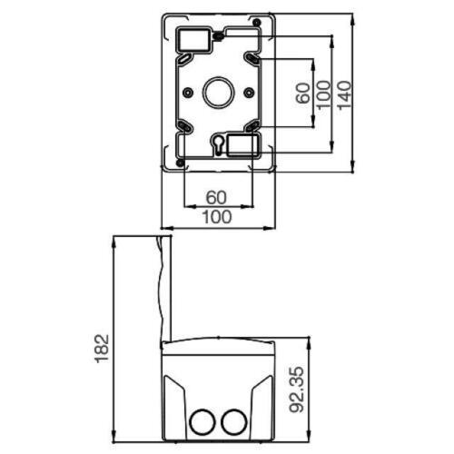 Sicherungskasten 1 Reihig für 2 Module Aufputz IP40 Verteiler AP Transparent