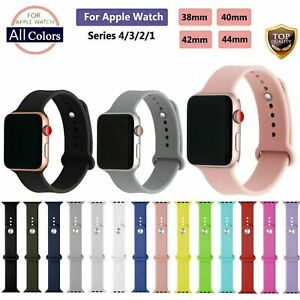 38 42mm Replacement Strap Soft Silicone Sport Band For Apple Watch Series 1 2 3 Ebay