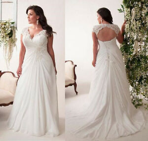 Image Is Loading White Ivory Plus Size Wedding Dress Boho Bridal