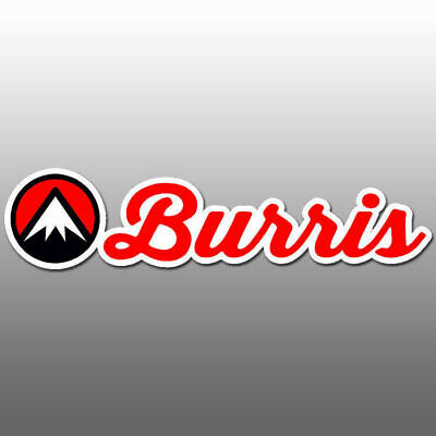 Burris Optics Vinyl Decal Logo Sticker 6 0 X 1 3 Red Black Over White Hunting Ebay