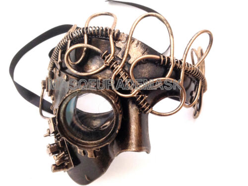 Steampunk Soldier Military Phantom Masquerade Ball Mask Goggle Burning Man Party