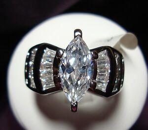 CZ-MARQUISE-CUT-Engagement-Wedding-Rings-18K-GP