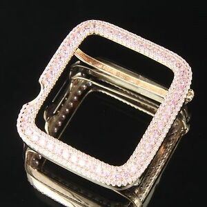 first rate 955dc 389a0 Details about Apple Watch Bezel Rose Gold Pink Simulated Diamond 38mm  Series 3 Watch