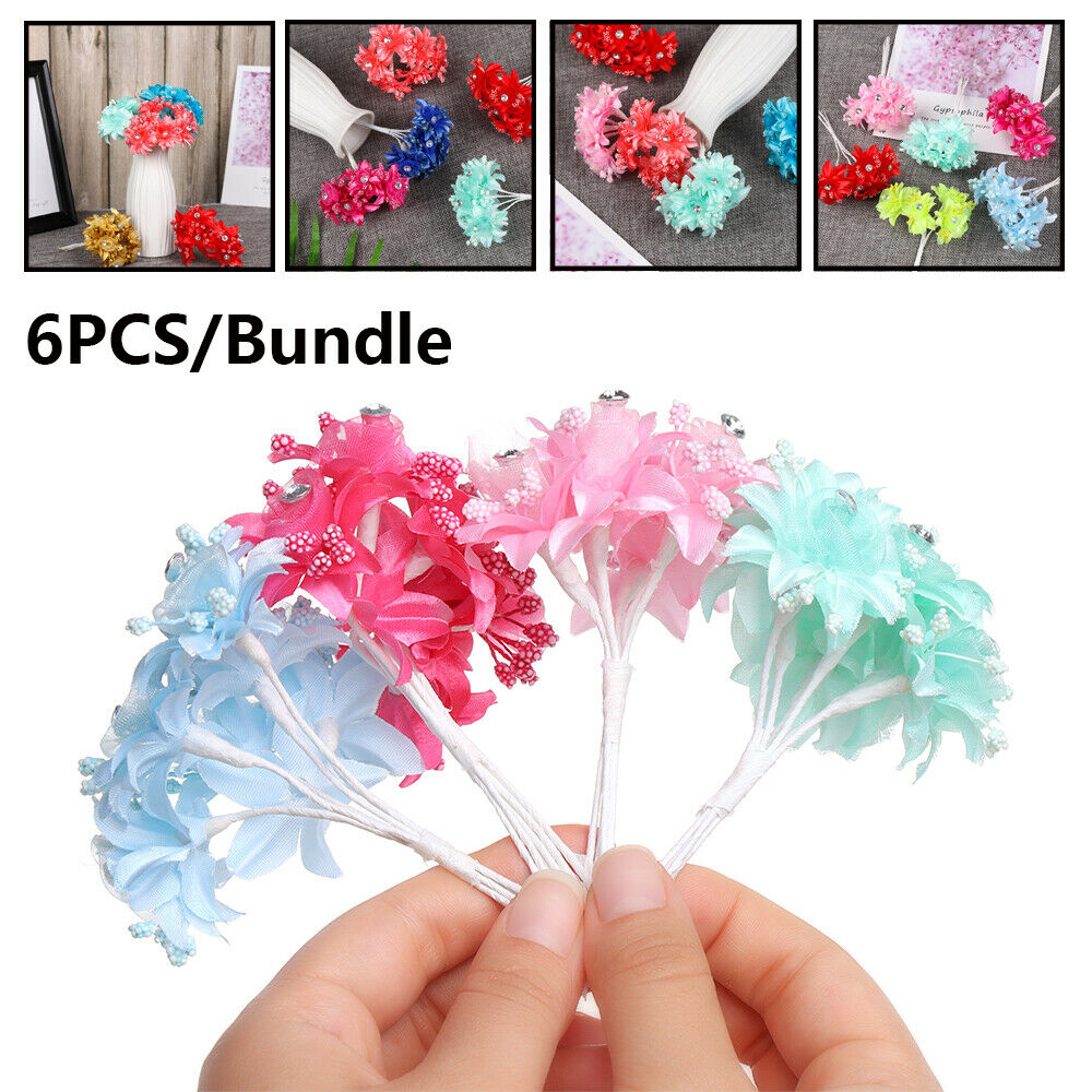 Wreath Wedding Headdress Artificial Flowers Silk Roses Gauze  With Diamond