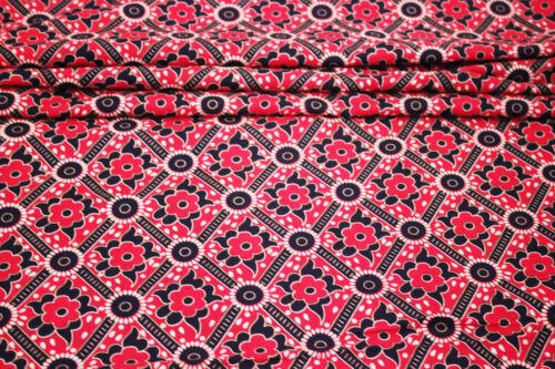 Preis=0,5m Viskosejersey Blumenblätter schwarz pink Sommerstoff Modestoff