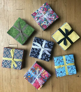100 Assorted Pre Cut Charm Pack 5 Squares 100/% Cotton Fabric Quilt