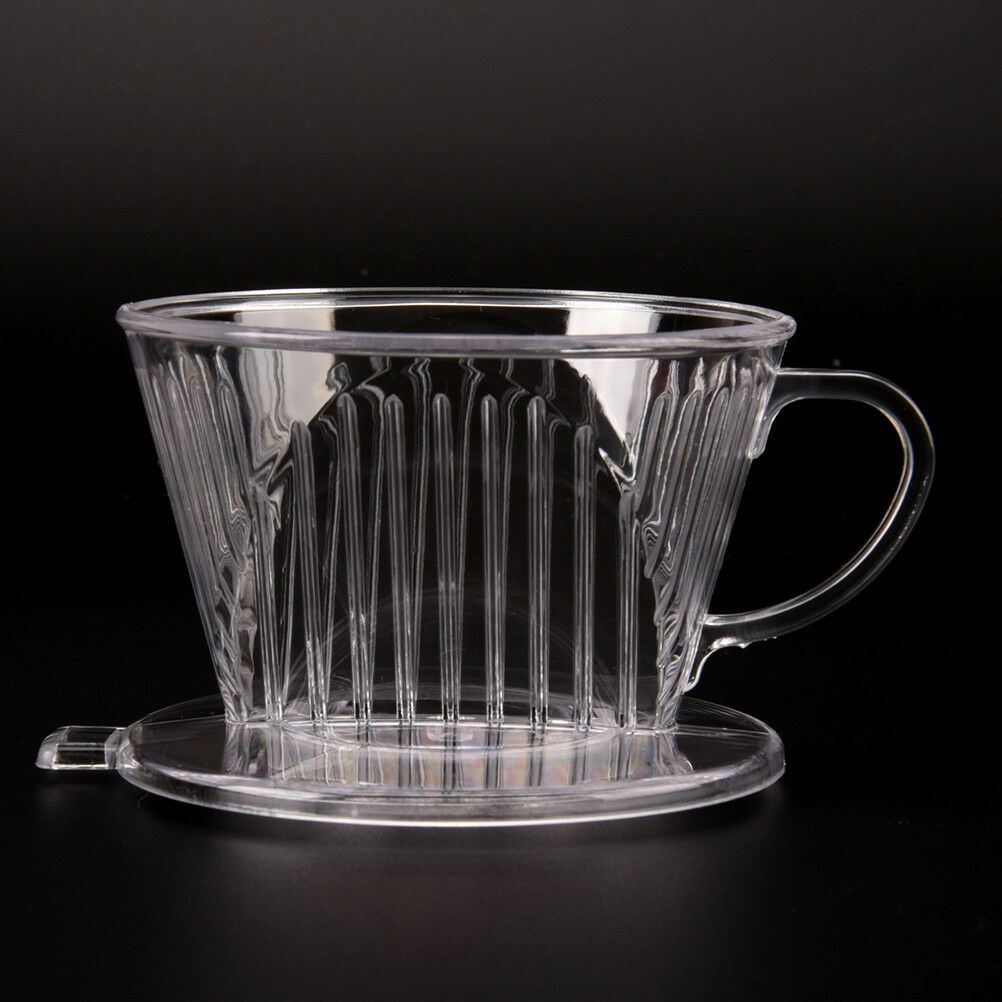 Clear Coffee Filter Cup Cone Drip Dripper Maker Brewer Holder Plastic ReusaF WA
