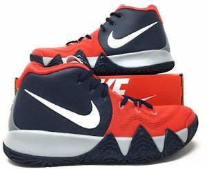 online store 74958 c077d Details about Nike ID Kyrie 4 Men's Basketball Shoes AR3867-994 Red Blue  White Grey Size 9