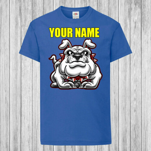 Personalized with name Bulldog Standing Children Kids T-Shirt DTG