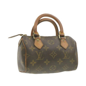 LOUIS-VUITTON-Monogram-Mini-Speedy-Hand-Bag-M41534-LV-Auth-20552