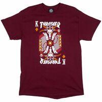 Thrasher Magazine King Of Diamonds Skateboard Shirt Maroon Large on sale