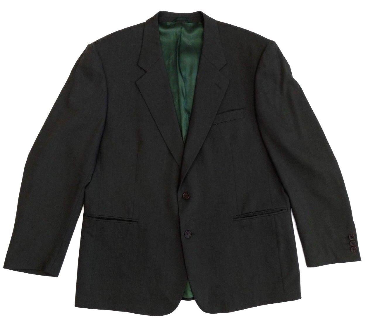 """Cacharel Mens Blazer Jacket Dark Khaki braun Designer Chest 48"""" Größe 44R"""