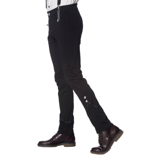 Banned Vintage Rockabilly 20er-Jahre Hose Stoffhose mit Hosenträgern Winston