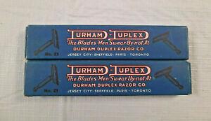 Vintage Durham Duplex Mens Safety Razors Blue Box #21 (Made in USA)