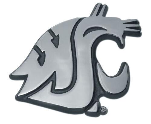washington state university WSU cougars logo shiny chrome auto emblem usa made