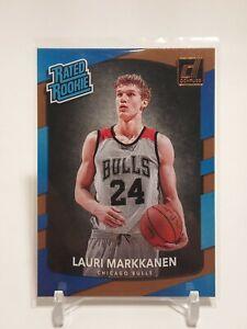 2017-18 Panini Donruss Rated Rookie Lauri Markkanen #159 RC Chicago Bulls