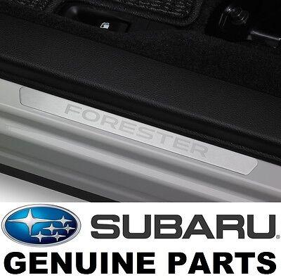 2014-2016 Subaru Forester OEM Front Side Sill Plates (Set of 2) & QRTZ BLUE PNT