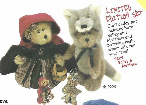BOYDS BEARS LIMITED EDTION SET 2000  9229  W ORNAMENTS