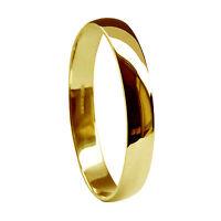 Sale 2.7mm 18ct Yellow Gold D Shaped Wedding Ring 2.3g Uk Hm K. Usa 5 1/8