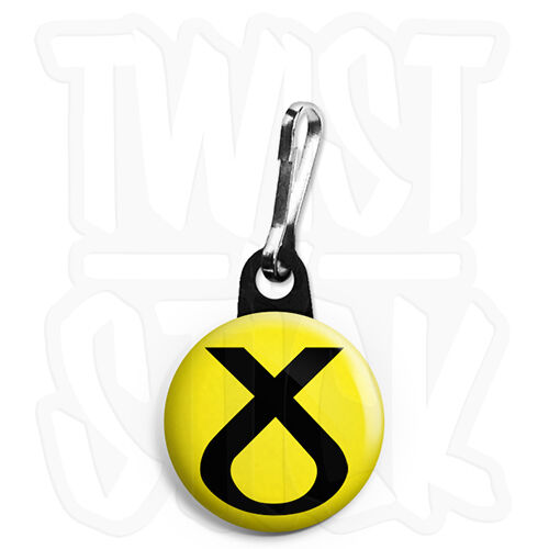 25mm Scottish National Election Keyring Button Badge Zip Pull Option SNP Cross