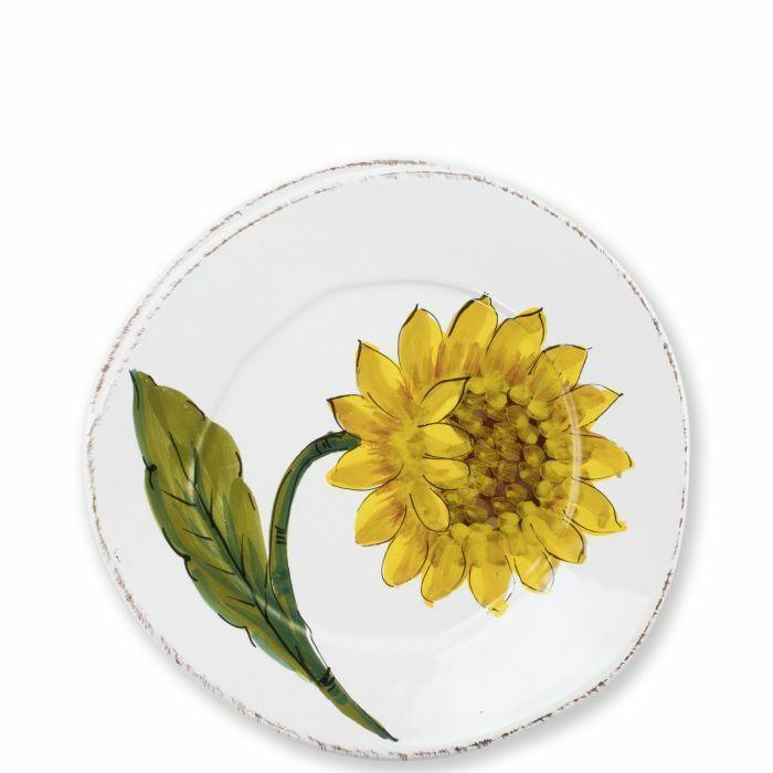Vietri Lastra Sunflower Salad Plate - Set of 8