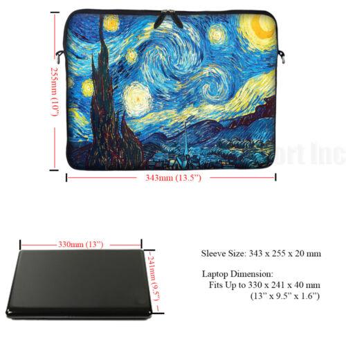 "Laptop Computer Sleeve Case Bag w Hidden Handle Fit 13.3/"" 13/"" 3009"