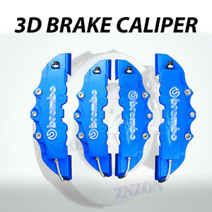 4pcs Red 3D Disc Brake Caliper Cover Kit For Honda Civic 16-18 inch wheels