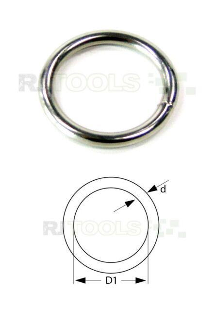 Rundring - Rundringe - O-Ringe O Ring - vernickelt 18 x 2.8 mm 933934 - 10 stück