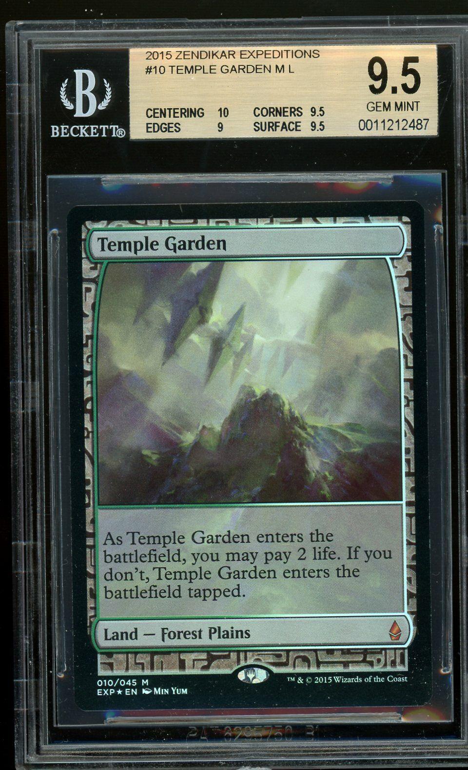 Temple Garden foil - Zendikar Expeditions, BGS 9.5 GEM MINT. MTG (pop 1 of 7)