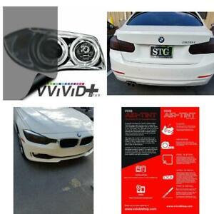 12 x 48, Smoke Black VViViD Air-Tint Headlight//Tail Light Window Tint