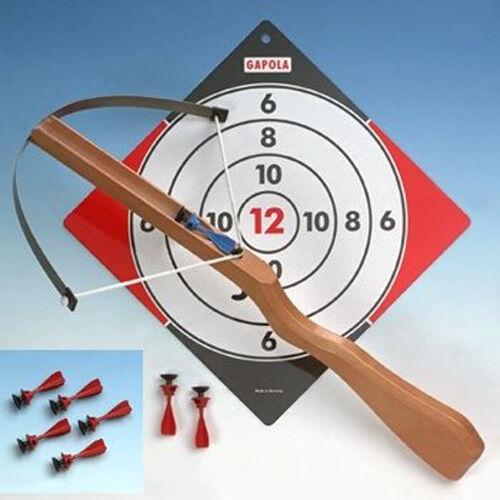 Holz-Armbrust für Kinder die große  Gapola und 3 Pfeilen + 3 gratis NEU