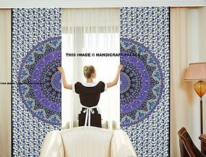 Image Is Loading Mandala Panel Set Curtain Indian Wall Hanging Curtains