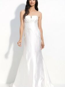 NICOLE MILLER SHANTUNG SILK MERMAID WEDDING BRIDAL 10 $1900 IM0002 ...