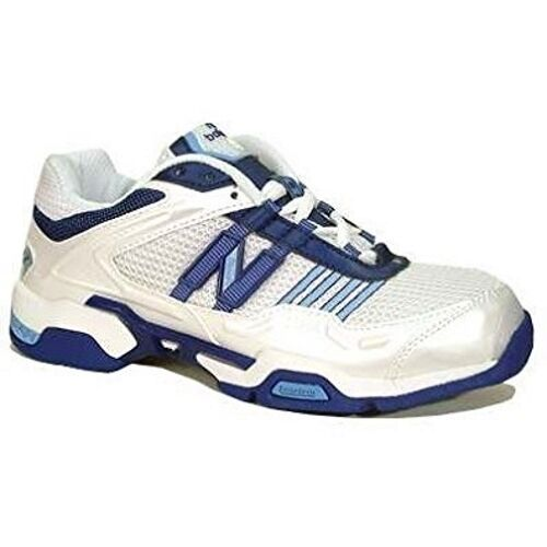 New Balance WNB802 Womens Netball shoes (D) (White (White (White bluee) 0e514a