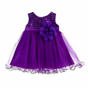 Wedding-Sequin-Mesh-Flower-Girl-Dress-Pageant-Birthday-Baby-Princess-Gown-B011NF