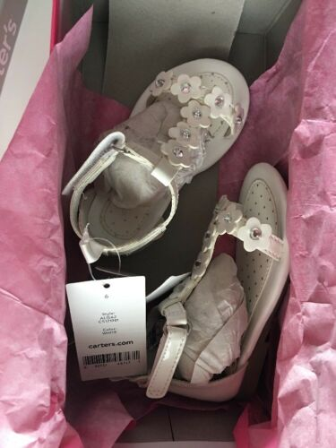 Carter/'s Toddler Girls/' Alisa 2 Floral White Sandals Size 6 NWT $35