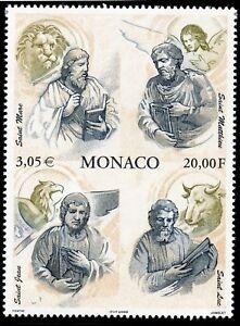 GéNéReuse Timbre De Monaco N° 2252 ** Les 4 Evangelistes