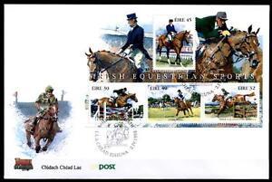 Chevaux Sport. Fdc. Bloc. Irlande 1998-afficher Le Titre D'origine