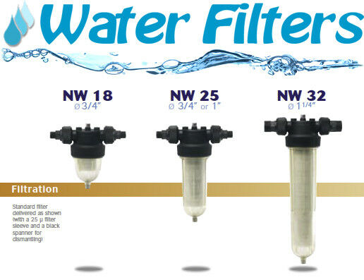 Whole House Water Filters CINTROPUR NW 18, NW 25, NW 32, NW 25TE, NW 32TE