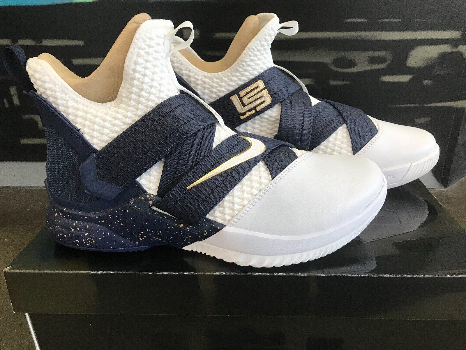 Nike lebron soldato xii sfg testimone ao4054-100 lebron james scarpe da basket pennino