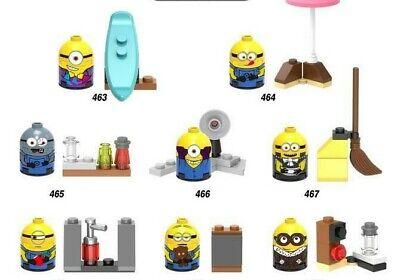 Custom Minifigure Spongebob as Despicable Me Minion Printed on LEGO Parts