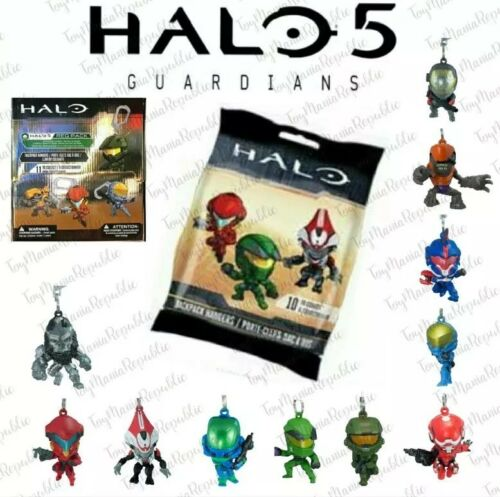One Bag Halo 5 Guardians Xbox Microsoft Req Pack Backpack Hangers Clip Random