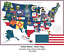 United States of America STATE FLAGS Cross-stitch MapUSA Mississippi UPDATED