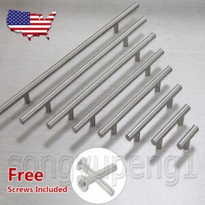 "2""-16"" Stainless Steel T bar Kitchen Cabinet Door Handles Drawer Pulls Knobs Lot"